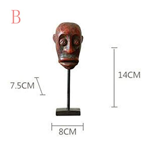 DOGOGO Afrikaanse Primitieve Tribal Masker standbeeld Karakter Beeldhouwkunst Figurines Man Beeldje Ambachten Moderne Decoratie Kunst Geschenken