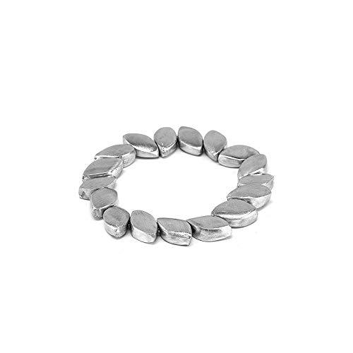 VSTOPAzzo AL01126 – Pulsera elástica con escamas de aluminio