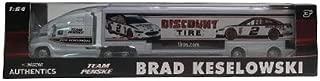 NASCAR Authentics Brad Keselowski #2 Trailer / Hauler - Team Racing Hauler Transporter Semi Tractor Trailer Rig Truck 1/64 Scale - Metal Cab Plastic Trailer - 2018