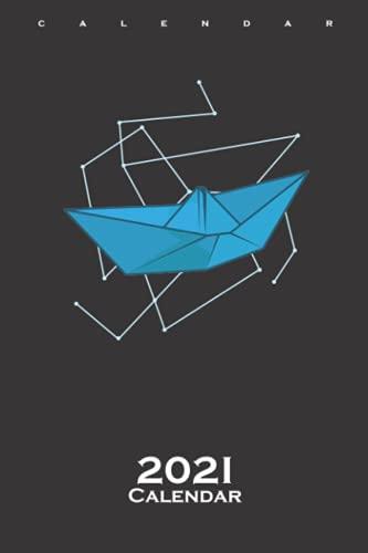 Origami Boat as Paper Shape Calendar 2021: Annual Calendar for Japanese paper folding fans
