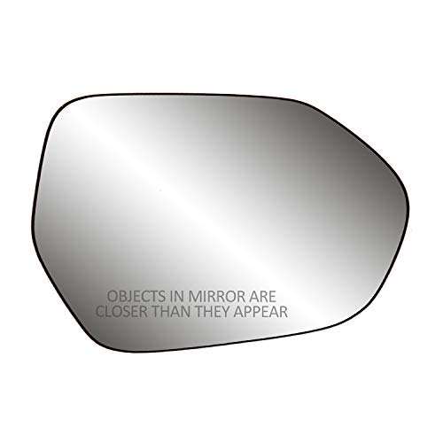 "Passenger Side Non-heated Mirror Glass w/backing plate, Camry Sedan/Hybrid, Corolla Sedan, w/o BSDS, 4 15/16"" x 7 1/16"" x 7"""