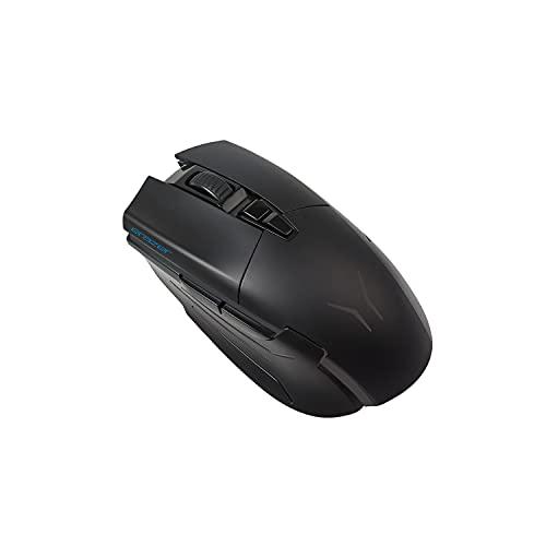 Medion Erazer X81035 USB-C Souris de gaming (technologie filaire/sans fil, capteur PixArt PMW 3389 avec 16 000 DPI, commutateurs OMRON, éclairage RVB, câble recouvert de tissu)