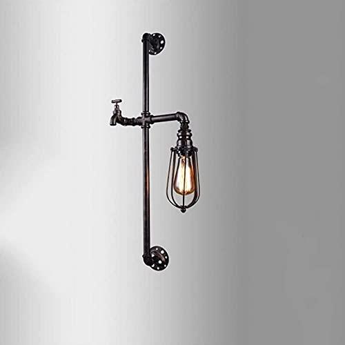 Aplique de Pared Moda de una Sola Cabeza Hierro Tubería de Agua Bombilla Lámpara de Pared Loft Retro Industrial Pasillo Pasillo Pasillo Lámpara de Pared Grifo Modelado Lámparas y linternas 8