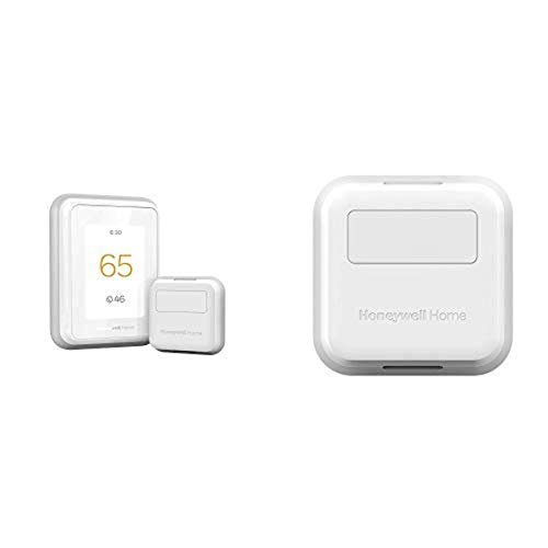 Honeywell T9 WIFI Smart Thermostat + 3pk Honeywell Home Smart Room Sensor (works with Alexa and Google Assist)