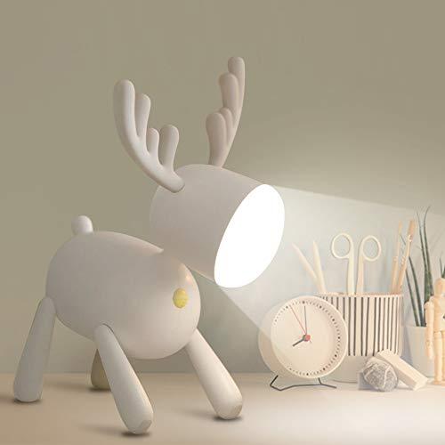 specool Luce Notturna Lampada Tavolo a LED, 2 Colore di Luce, Lampada da Scrivania...