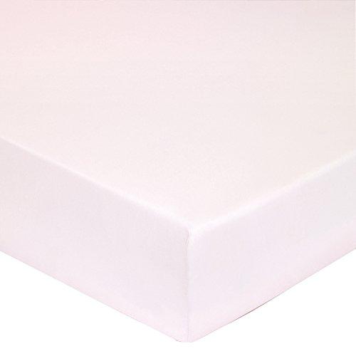 Blanc des Vosges Uni Percale Drap housse 2 têtes Coton Pétale 180 x 200 cm Bonnet de 30 cm