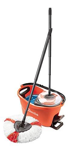 Vileda Turbo EasyWring & Clean - Juego completo de fregona y cubo con escurridor Power, color coral