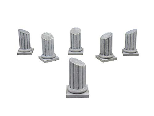 EnderToys Pillars, Terrain Scenery for Tabletop 28mm Miniatures Wargame, 3D Printed and Paintable
