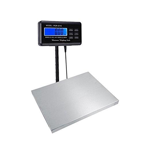 Resistente 150KG/0.05KG 300KG/0.1KG Digital Escala Postal de Envío Eléctrico Escala de Pesaje Postal con LCD y Plataforma Grande