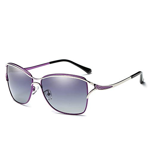 Sunglass Fashion Gafas con Marco para Mujer Gafas de Sol de Moda Gafas de Sol polarizadas para Exteriores (Color : Red, Size : Free)
