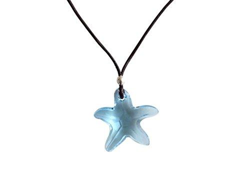 Gemshine - Damen - Halskette - Anhänger - Seestern - *Aquamarin* - Blau - 925 Silber - MADE WITH SWAROVSKI ELEMENTS® - 45 cm