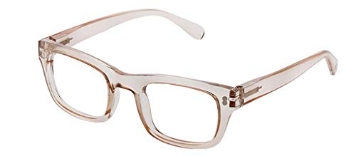 Peepers by PeeperSpecs Women's Venice Square Reading Glasses, Tan, 48 mm + 3