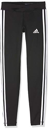Adidas Equip 3 Stripes Tight, Tights Bambina, Black/White, 11-12A