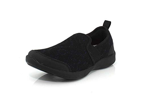Vionic Women's Sky Roza Slip-on Sneakers - Ladies Walking Shoes with Concealed Orthotic Arch Support Black 11 W US