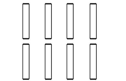 Pin 2x10 Voltage/Majour 8 pcs.