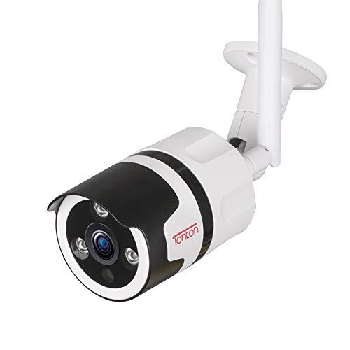 Cámara IP para Exteriores Tonton Full HD 1080P WiFi Cámara de Seguridad inalámbrica IP66 Sistema de vigilancia residencial a Prueba de Agua, visión Nocturna por Infrarrojos de 65 pies