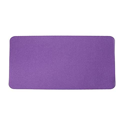 Xx101 Alfombra de Escritorio Almohadilla de ratón de paño de Fieltro Grande Alfombrilla de ratón Antideslizante Mapa de ratón para Oficina de Escritorio de Oficina (Color : Purple)