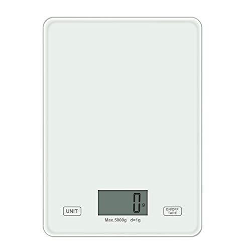 PPCERY LED Pantalla Digital LED Escala de Alimentos Escala de Cocina Peso gram oz para cocinar Hornear 50JD (Color : White)