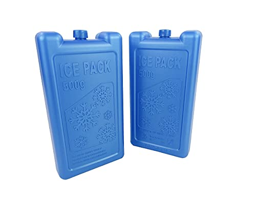 Enfriador de Nevera / Acumulador de Frio Pack 2/ Paquete de hielo 2Uds/ Pastilla Congelable Para Nevera, Camping/ Placa Para Nevera 500ML PACK 2