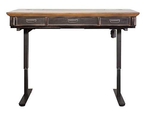 Martin Furniture Electric Hartford Sit/Stand Desk, Brown