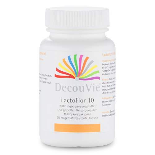 DecouVie LactoFlor 10 Probiotika I 60 Kapseln hochdosiert I Probiotikum in Apothekenqualität I Lactobacillus I Bifido-Bakterien I Milchsäurebakterien I vegan