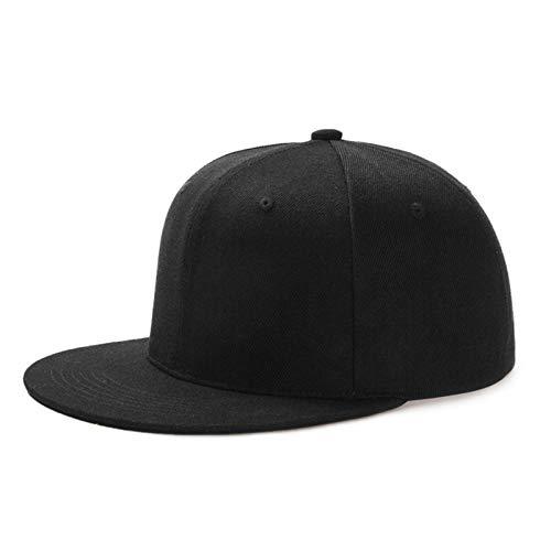Yidarton Unisex Kappe Outdoor Baseball Cap Verstellbar Erwachsenen Mütze Casual Cool Mode Baseballmütze Hip Hop Flat Hüte (Z-Hiphop-Schwarz)