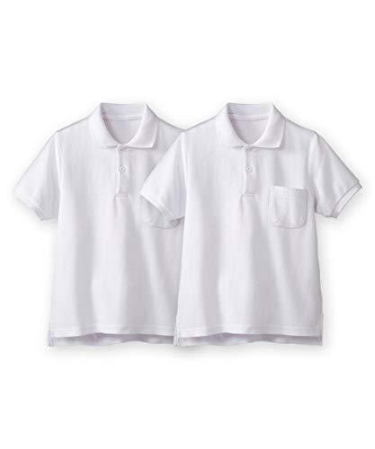 [nissen(ニッセン)] 半袖 ポロシャツ 2枚組 ポケットあり キッズ ジュニア 白 120 セット組