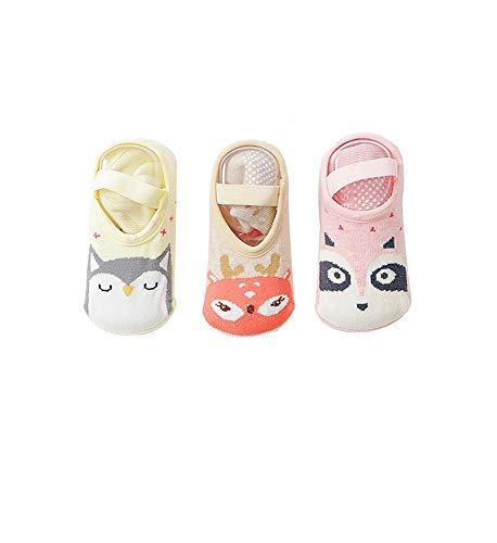 (ボッパル)BHODPER 靴下 カバーソックス アニマル 滑り止め付き 3足セット 初めての靴下 赤ちゃん ベビー新生児 ガールズ ボーイズ フットカバー くつした おそろい 保育園 お出かけ ギフト プレゼント Aセット S