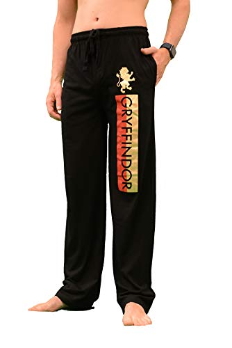Bioworld Gryffindor House Lounge Sleeping Pajama Pants with Red and Gold Foil Logo Medium