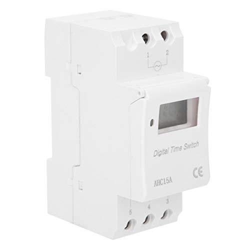 Interruptor temporizador programable AHC15A Interruptor temporizador Función de cuenta regresiva Temporizador Interruptor de tiempo digital Suministros industriales para instalación