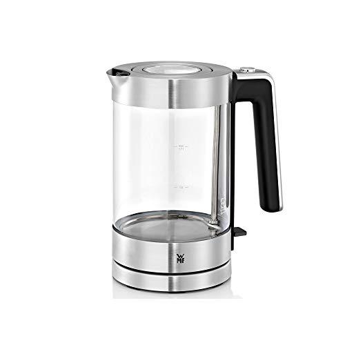 WMF Lono Wasserkocher Glas 1,7 Liter, Glaswasserkocher mit Kalkfilter, kabellos, 3000 Watt, edelstahl matt