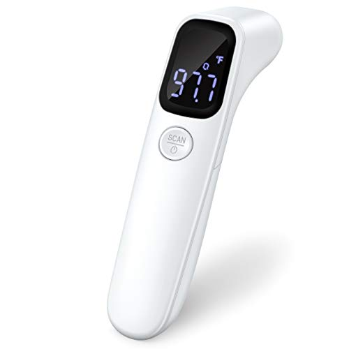 Non-Contact Infrared Thermometer Digital Forehead Thermometer - Fever Alarm for Adults and Kids