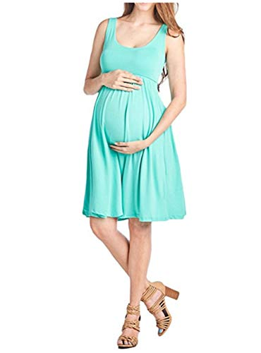 FEIFUSHIDIAN Capuche Femme Gilet Slim Col Rond Robe Femmes Enceintes Mis sur Une Grande Étendue Bloquer Pull-up ( Color : Light Green , Size : S )