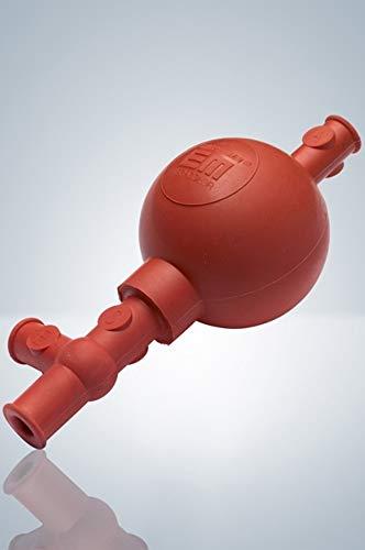 4700001 - Sicherheits-Pipettierball, Peleusball, rot, Modell Standard, drei Arbeitspunkte, für Pipetten 0,1-100 ml
