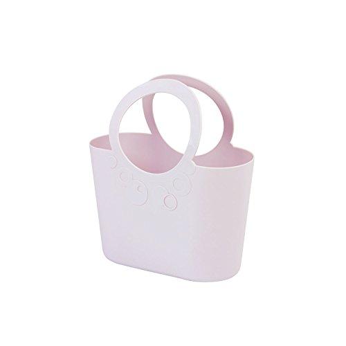 moderne Handtasche 3,8 L Picknickkorb hell violett Size M Griffe Lily Strandtasche Tasche Basket