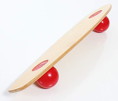 Togu Unisex– Erwachsene Balancegerät Balanza Freeride holzfarben, rot, 100 x 30 x 14 cm