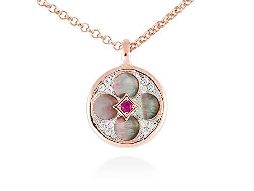 MARINA GARCIA Collana Firenze in argento sterling con bagno in oro rosa