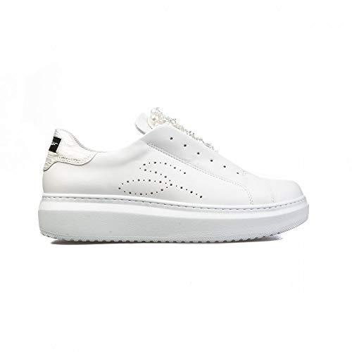 TOSCA BLU STUDIO Ss2101s009 Sneakers, 38, Bianco