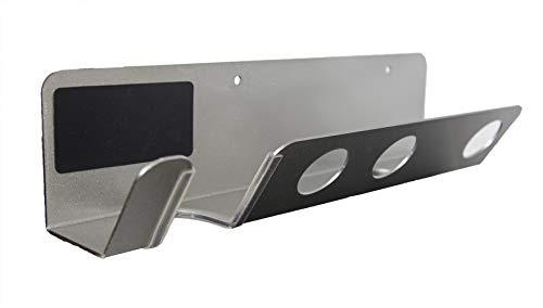 DoubleBlack Supporto Porta Asciugacapelli Dyson Supersonic Diffusore Organizer Parete Montaggio Muro Argento