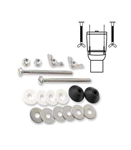 2/Lot de 38/mm Plastique double chasse deau WC R/éservoir Push Button lunette WC de remplacement avec tiges