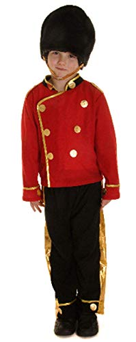 Fancy Me Jungen Tschako Wache Königsblau Britisch London Soldaten Kostüm Kleid Outfit 4-12 Jahre - Rot, 4-6 Years