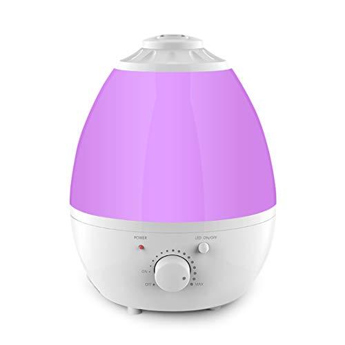 Ultraschall Luftbefeuchter, 1,3 Liter Aroma Diffusor, Kühler Nebel Luftbefeuchter, 7 farbiges LED Licht, leiser Betrieb mit wasserloser automatischer Abschaltfunktion