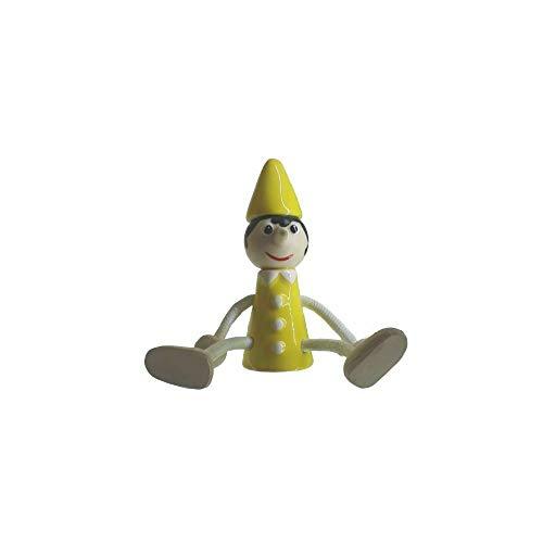 Spanische Erde Pinocchio gelb 11 x 4 cm aus Keramik Made in Italy Sammlerstück