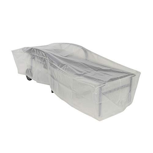 Greemotion Schutzhülle für Liege wasserabweisen mit Ösen, Transparent, 200x75x40cm