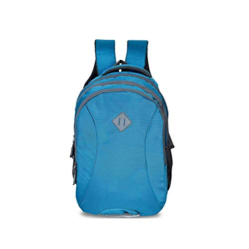 Sceentp Casual Waterproof Laptop Bag/Backpack for Men Women Boys Girls/Office School College Teens & Students with Free RAIN Cover (18 Inch,34litr) (Turquoise)