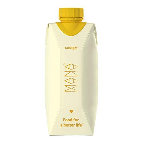 MANA™ Trinknahrung/Nahrungsersatz   Tropische Früchte Sunlight Mahlzeitenersatz   keine GMO, Laktosefrei und Vegan - 12 x 330ml Flaschen - 400 kcal/Flasche