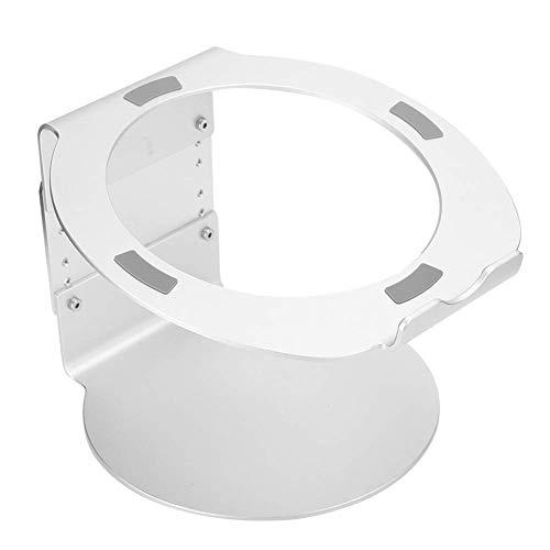 Soporte portátil, Soporte de Escritorio de aleación de aleación de Aluminio de Soporte de Aluminio, Soporte Antideslizante del refrigeración del Cuaderno, Elevador portátil (Color : Silver)