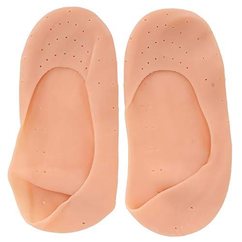 Calcetines de silicona, calcetines de silicona suaves protectores de pies de silicona transpirables calcetines de silicona para el cuidado de los pies (color, tamaño grande)