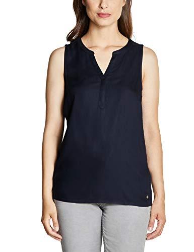 Cecil Damen 341543 Bluse, deep Blue, X-Large (Herstellergröße:XL)