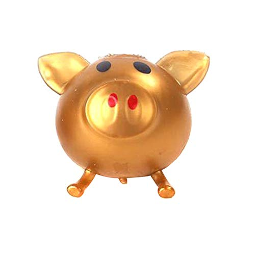 JIEHED Pig Toy, Flexible Decompression Squeeze Toy, Stress Relief Toys, Solid Color Pig Anti Stress Water Ball Decompression Toy Flexible Soft